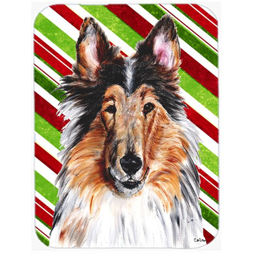 Carolines Treasures SC9790MP Collie Candy Cane Christmas Mouse Pad Hot Pad Or Trivet 7.75 x 9.25 In.