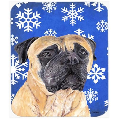 Carolines Treasures SC9385MP Mastiff Winter Snowflakes Holiday Mouse Pad Hot Pad Or Trivet