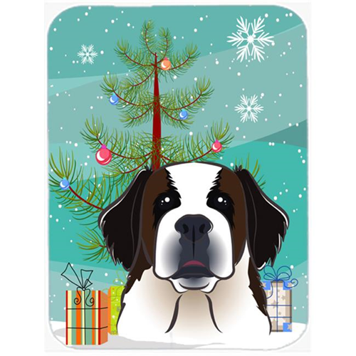 Carolines Treasures BB1618MP Christmas Tree And Saint Bernard Mouse Pad Hot Pad & Trivet