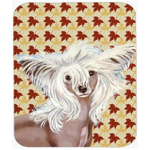 Carolines Treasures LH9122MP Chinese Crested Fall Leaves Portrait Mouse Pad Hot Pad or Trivet