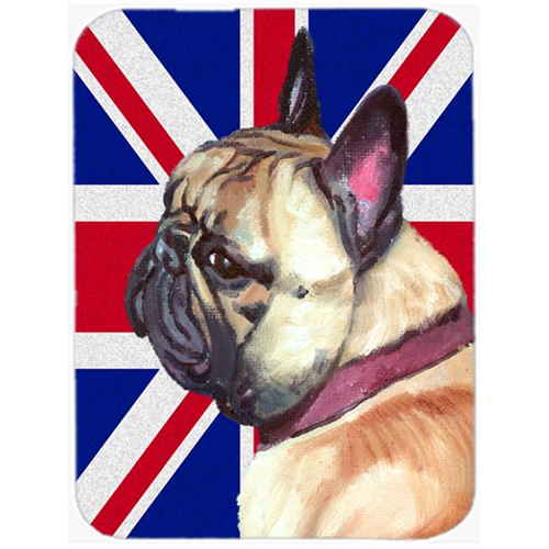 Carolines Treasures LH9601MP French Bulldog Frenchie With English Union Jack British Flag Mouse Pad Hot Pad & Trivet