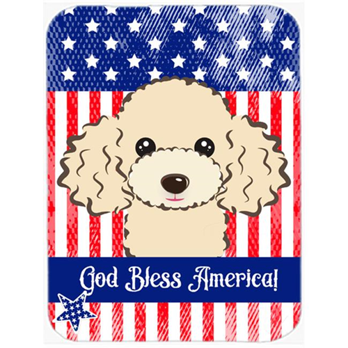 Carolines Treasures BB2188MP God Bless American Flag with Buff Poodle Mouse Pad Hot Pad or Trivet
