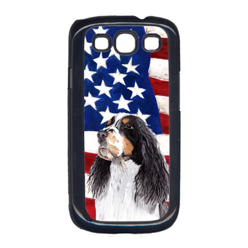 Carolines Treasures SC9016GALAXYS3 USA American Flag with Springer Spaniel Cell Phone Cover GALAXY S111