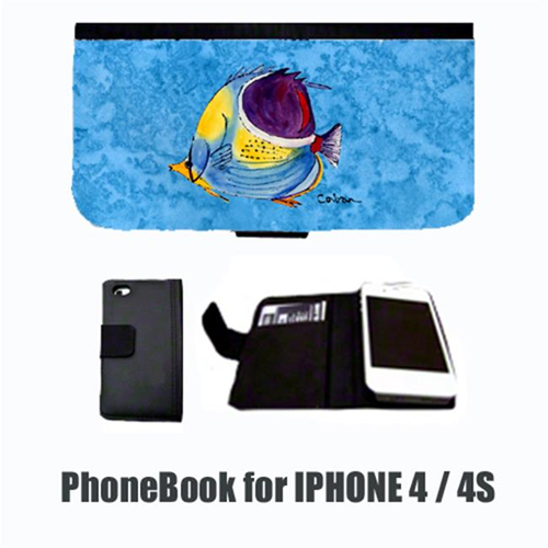 Carolines Treasures 8676-NBIP4 Tropical Fish Cell Phonebook Cell Phone case Cover for IPHONE 4 or 4S