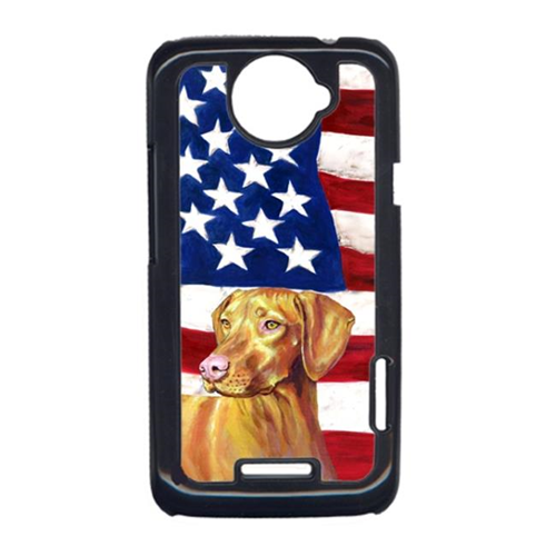 Carolines Treasures LH9012HTCONE USA American Flag With Vizsla HTC One X Cell Phone Cover