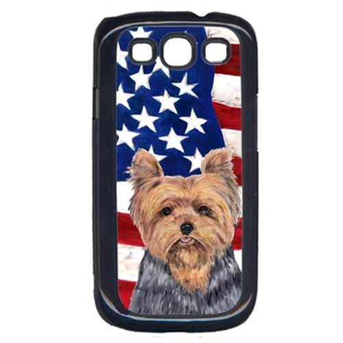 Carolines Treasures SC9111GALAXYS3 USA American Flag with Yorkie Cell Phone Cover GALAXY S111