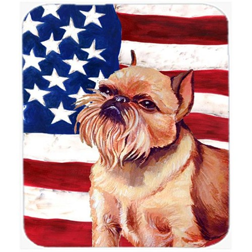 Carolines Treasures LH9023MP Usa American Flag With Brussels Griffon Mouse Pad Hot Pad Or Trivet