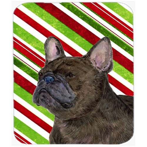 Carolines Treasures SS4588MP French Bulldog Candy Cane Holiday Christmas Mouse Pad Hot Pad Or Trivet