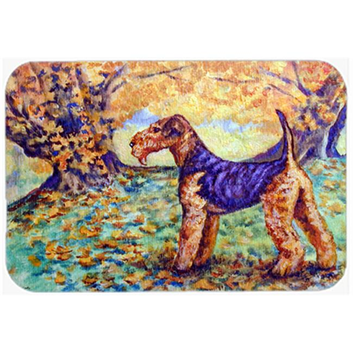 Carolines Treasures 7343MP Autumn Airedale Terrier Mouse Pad Hot Pad & Trivet