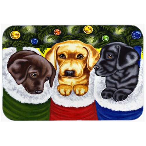 Carolines Treasures AMB1315MP Christmas Stocking Surprise Labrador Mouse Pad Hot Pad or Trivet
