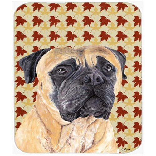 Carolines Treasures SC9225MP 9.5 x 8 in. Mastiff Fall Leaves Portrait Mouse Pad Hot Pad or Trivet