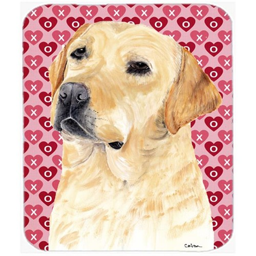 Carolines Treasures SC9263MP Labrador Yellow Hearts Love And Valentines Day Mouse Pad Hot Pad Or Trivet