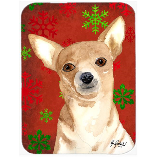 Carolines Treasures RDR3012MP 7.75 x 9.25 In. Red Snowflake Chihuahua Christmas Mouse Pad Hot Pad or Trivet