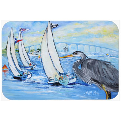 Carolines Treasures JMK1001MP Blue Heron Sailboats Dog River Bridge Mouse Pad Hot Pad & Trivet