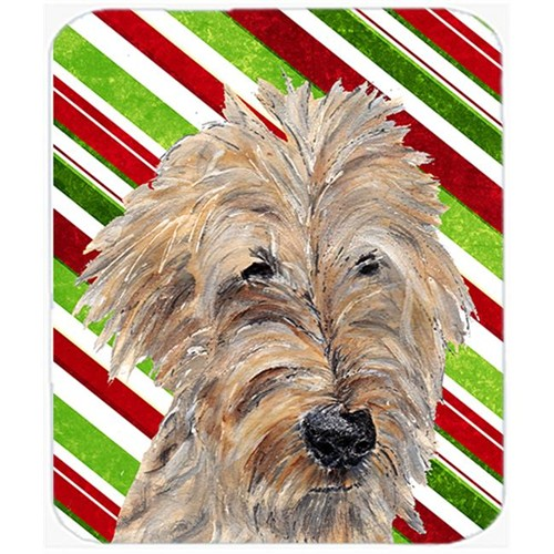 Carolines Treasures SC9619MP Goldendoodle Candy Cane Christmas Mouse Pad Hot Pad Or Trivet