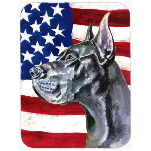 Carolines Treasures LH9543MP Black Great Dane Usa Patriotic American Flag Mouse Pad Hot Pad & Trivet