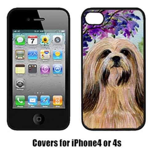 Carolines Treasures SS8436IP4 Lhasa Apso Cell Phone Cover For Iphone 4
