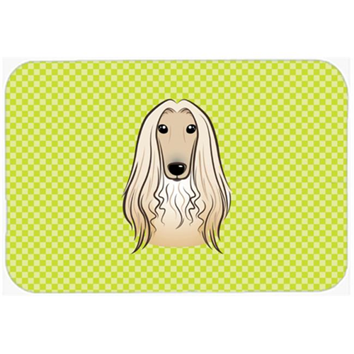 Carolines Treasures BB1306MP Checkerboard Lime Green Afghan Hound Mouse Pad Hot Pad Or Trivet 7.75 x 9.25 In.