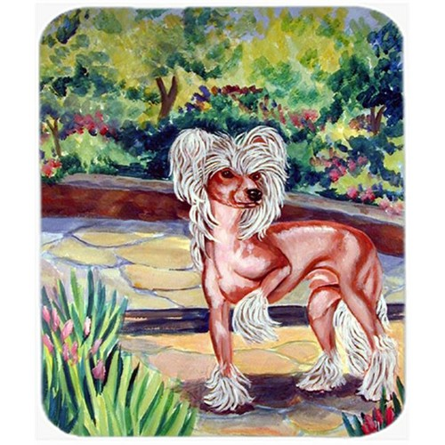 Carolines Treasures 7021MP 9.5 x 8 in. Chinese Crested on the patio Mouse Pad Hot Pad or Trivet