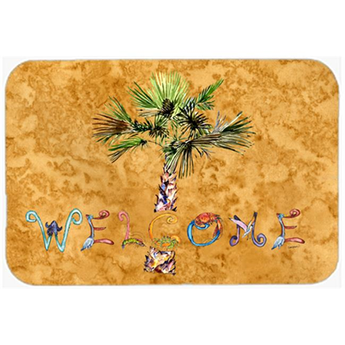 Carolines Treasures 8709MP Welcome Palm Tree On Gold Mouse Pad Hot Pad & Trivet