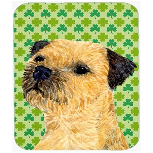 Carolines Treasures LH9188MP Border Terrier St. Patricks Day Shamrock Portrait Mouse Pad Hot Pad or Trivet