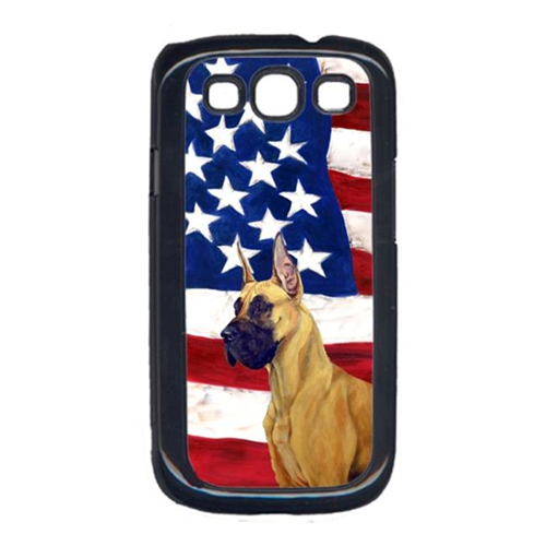 Carolines Treasures LH9025GALAXYS3 USA American Flag with Great Dane Cell Phone Cover GALAXY S111