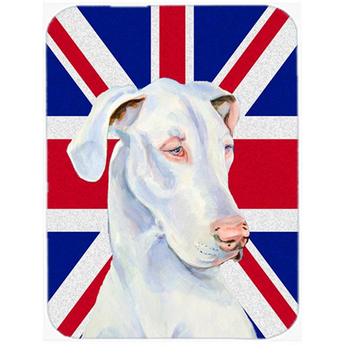Carolines Treasures LH9465MP 7.75 x 9.25 In. Great Dane With English Union Jack British Flag Mouse Pad Hot Pad Or Trivet
