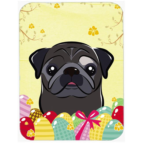 Carolines Treasures BB1945MP Black Pug Easter Egg Hunt Mouse Pad Hot Pad or Trivet