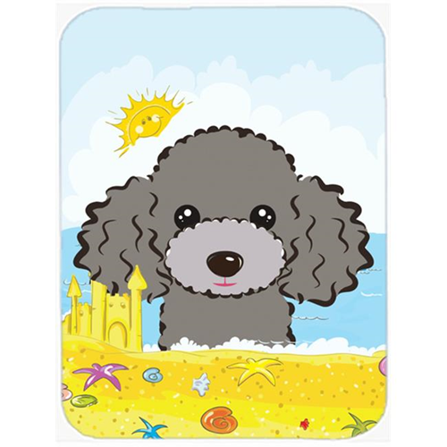 Carolines Treasures BB2127MP Silver Gray Poodle Summer Beach Mouse Pad Hot Pad or Trivet