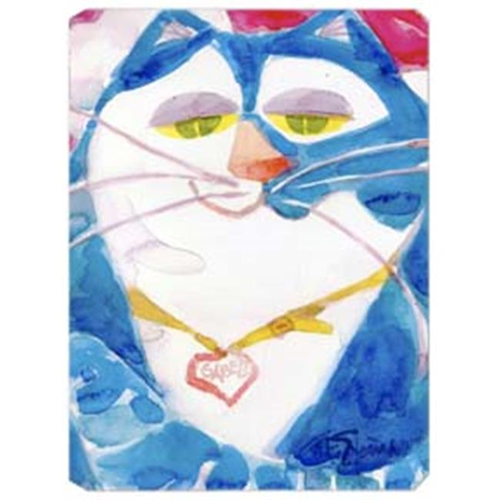 Carolines Treasures 6007MP 9.5 x 8 in. Blue Cat Isabella Mouse Pad Hot Pad Or Trivet