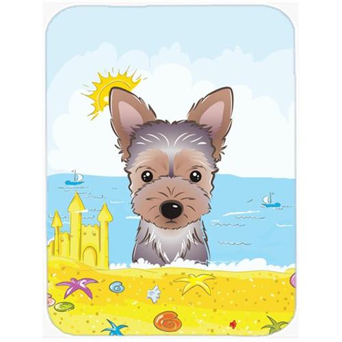 Carolines Treasures BB2100MP Yorkie Puppy Summer Beach Mouse Pad Hot Pad or Trivet