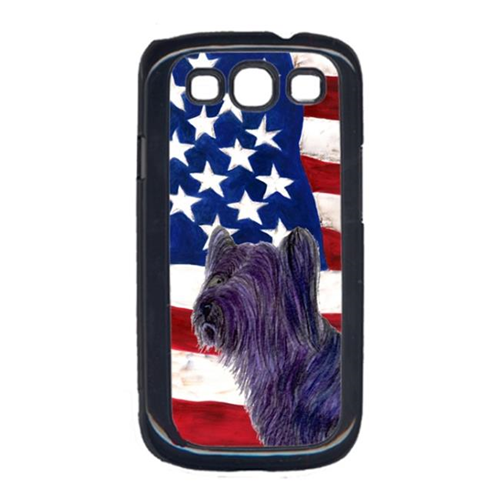 Carolines Treasures SS4219GALAXYS3 USA American Flag with Skye Terrier Cell Phone Cover GALAXY S111