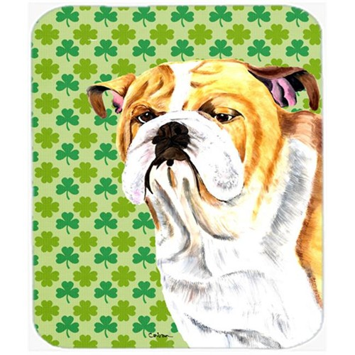 Carolines Treasures SC9294MP Bulldog English St. Patricks Day Shamrock Mouse Pad Hot Pad or Trivet