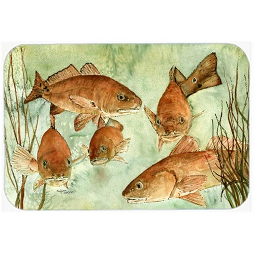 Carolines Treasures 8983MP Red Fish Swim Mouse Pad Hot Pad or Trivet