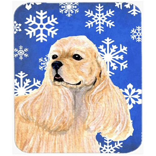 Carolines Treasures SS4660MP Cocker Spaniel Winter Snowflakes Holiday Mouse Pad Hot Pad or Trivet