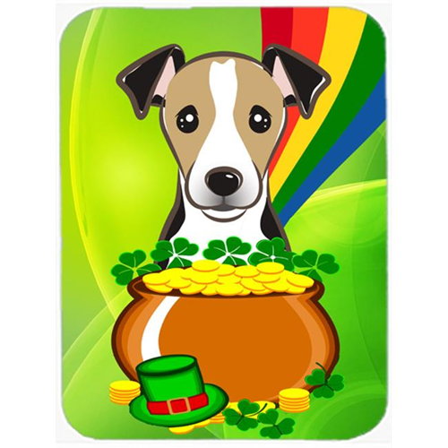 Carolines Treasures BB2005MP Jack Russell Terrier St. Patricks Day Mouse Pad Hot Pad or Trivet