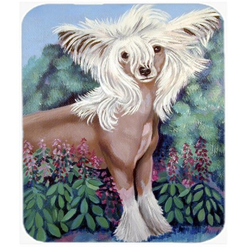 Carolines Treasures 7052MP 9.5 x 8 in. Chinese Crested in flowers Mouse Pad Hot Pad or Trivet