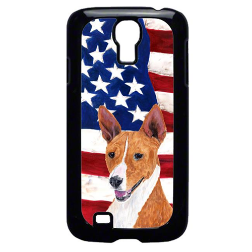 Carolines Treasures SC9033GALAXYS4 USA American Flag with Basenji Cell Phone Cover GALAXY S4