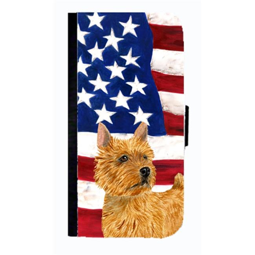 Carolines Treasures SS4026NBGALAXYS4 USA American Flag With Norwich Terrier Cell Phone Case Cover For Galaxy 4S