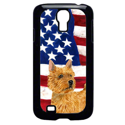 Carolines Treasures SS4026GALAXYS4 USA American Flag with Norwich Terrier Cell Phone Cover GALAXY S4