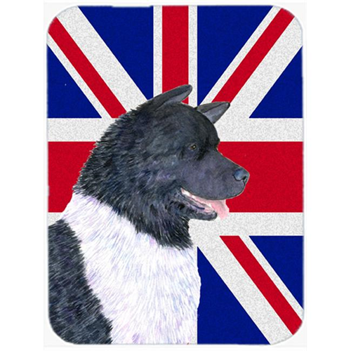 Carolines Treasures SS4963MP 7.75 x 9.25 In. Akita With English Union Jack British Flag Mouse Pad Hot Pad Or Trivet