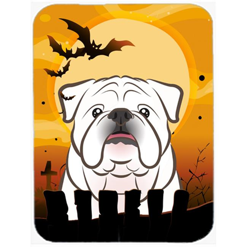 Carolines Treasures BB1778MP Halloween White English Bulldog Mouse Pad Hot Pad & Trivet