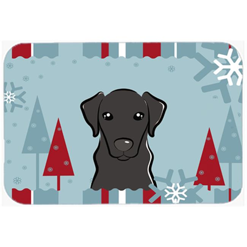 Carolines Treasures BB1731MP Winter Holiday Black Labrador Mouse Pad Hot Pad & Trivet