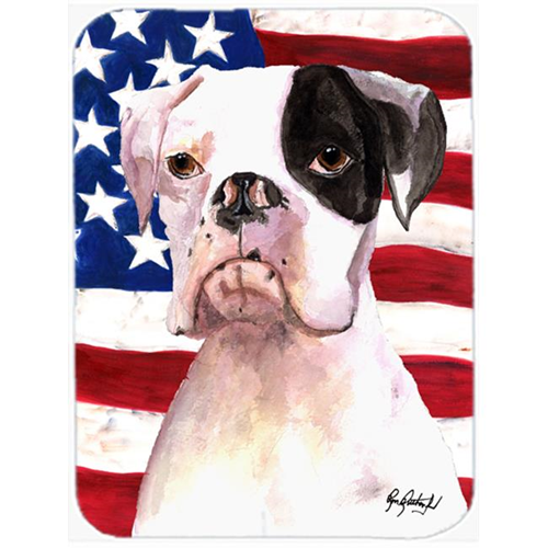 Carolines Treasures RDR3001MP 7.75 x 9.25 In. Cooper USA American Flag Boxer Mouse Pad Hot Pad or Trivet
