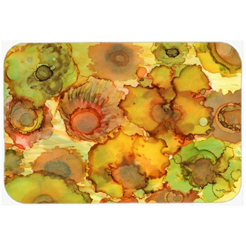 Carolines Treasures 8986MP Abstract Flowers in Yellows & Oranges Mouse Pad Hot Pad or Trivet