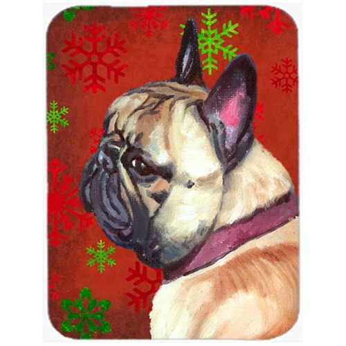 Carolines Treasures LH9580MP French Bulldog Frenchie Red Snowflakes Holiday Christmas Mouse Pad Hot Pad & Trivet