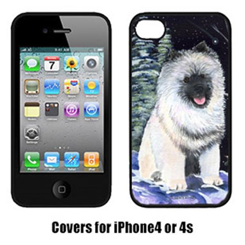 Carolines Treasures SS8404IP4 Starry Night Keeshond Cell Phone Cover Iphone4