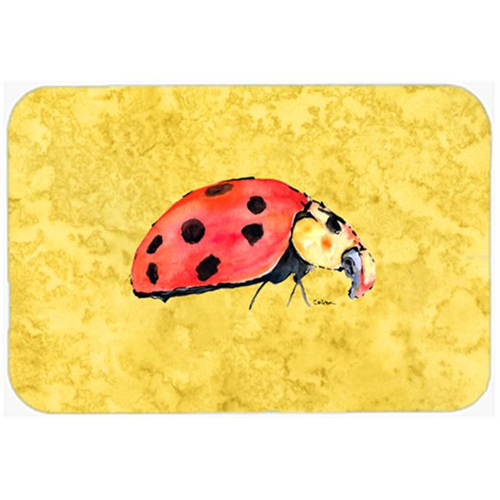 Carolines Treasures 8867MP 9.5 x 8 in. Lady Bug on Yellow Mouse Pad Hot Pad or Trivet