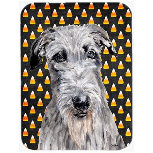 Carolines Treasures SC9658MP Scottish Deerhound Candy Corn Halloween Mouse Pad Hot Pad Or Trivet 7.75 x 9.25 In.