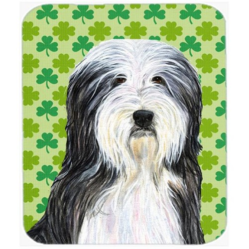 Carolines Treasures SS4428MP Bearded Collie St. Patricks Day Shamrock Portrait Mouse Pad Hot Pad Or Trivet